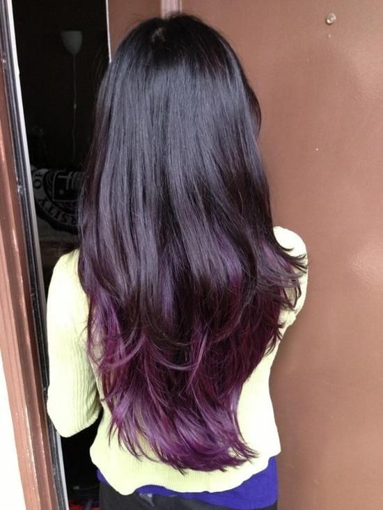 Trendy Hair Color Highlights Dark Brown Almost Black Hair With Dark