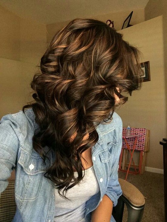Trendy Hair Color Highlights Dark Brown Caramel Highlights
