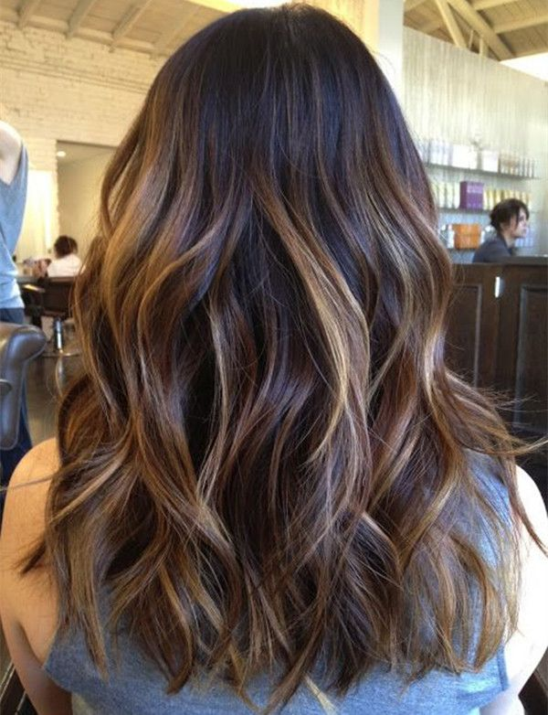 trendy hair color highlights dark brown ombre balayage