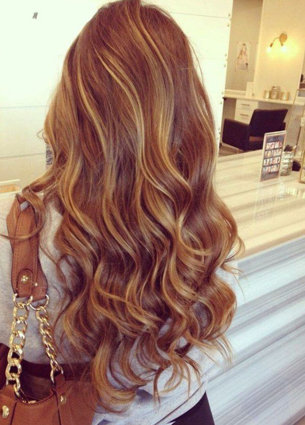 Trendy Hair Color Highlights Golden Brown Ombre Balayage Hair