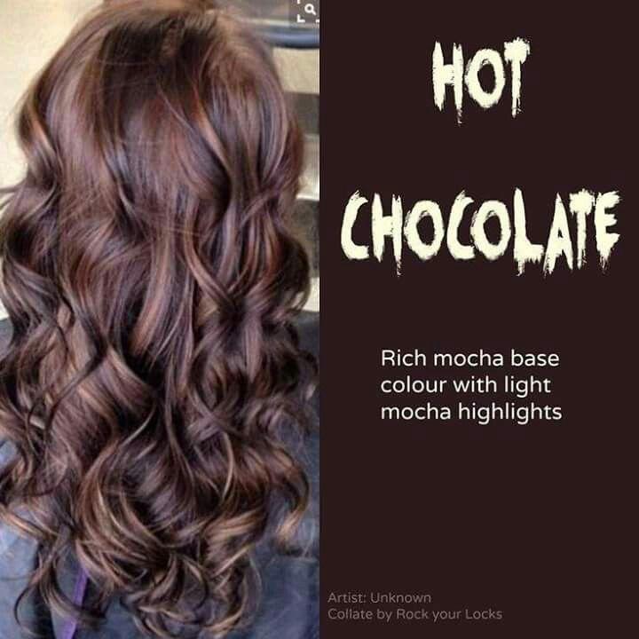 Trendy Hair Color Highlights Hot Chocolate Hair Color Mocha