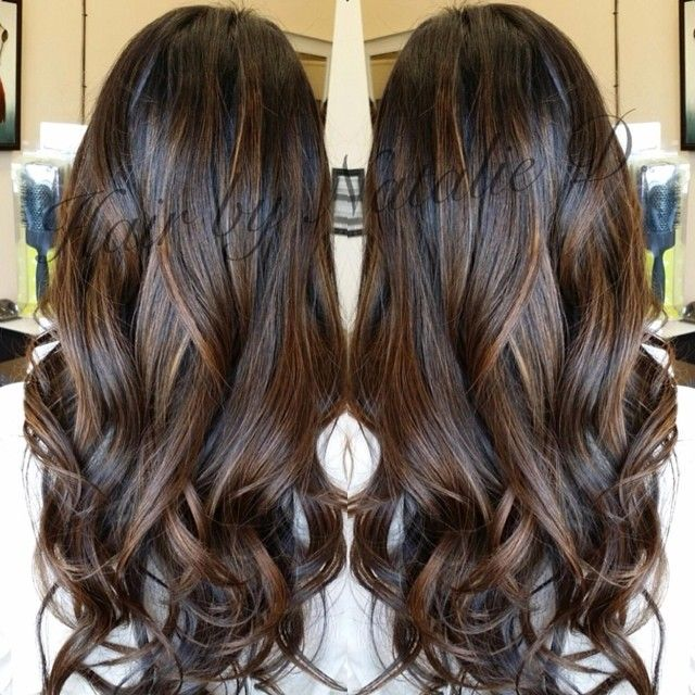 Trendy Hair Color Highlights Perfect Balayage For Black Hair