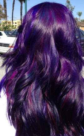 Pinning this just 'cos it reminded me of the purple hair i had when i was 21...
