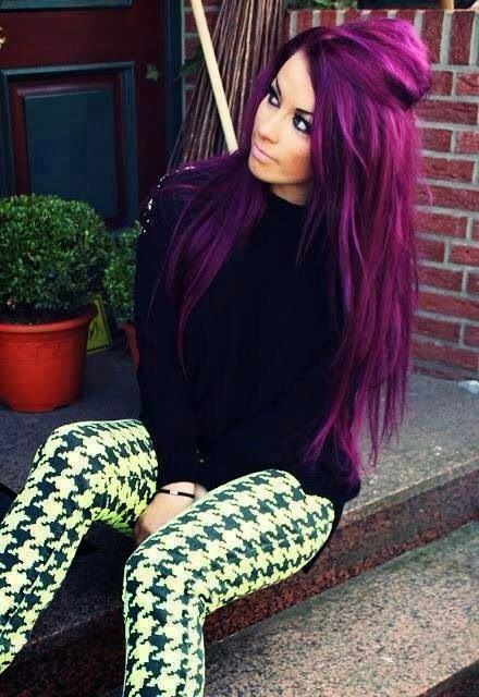 Purple Hair Color Ideas - Shades Of Purple - Hairstyles & Hair Color for long ,m...