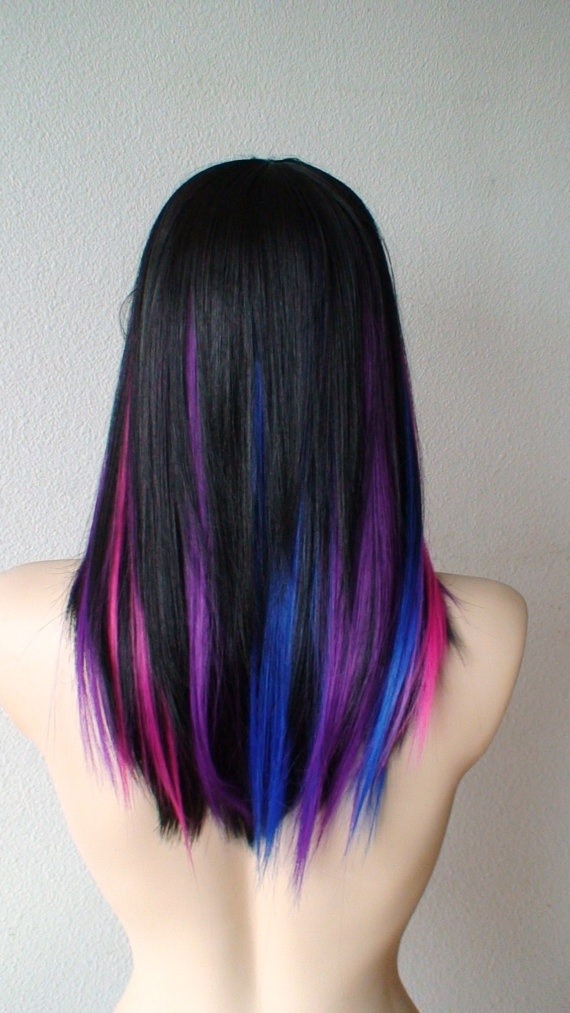 Trendy Hair Color Highlights Purple Pink Blue Black Beauty Haircut Home Of Hairstyle Ideas Inspiration Hair Colours Haircuts Trends