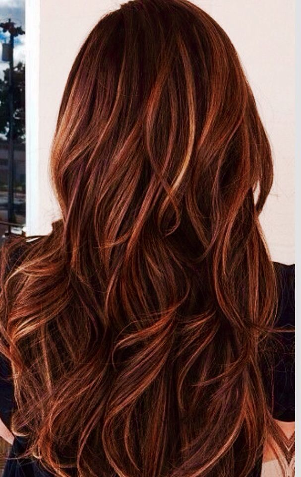 Trendy Hair Color Highlights Red Auburn Hair With Caramel