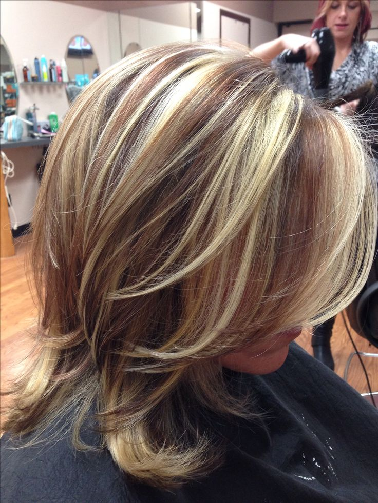 Trendy Hair Color Highlights Red brown lowlights and