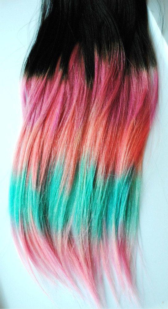 Trendy Hair Color Highlights Tribal Aztec Inspired Human Hair