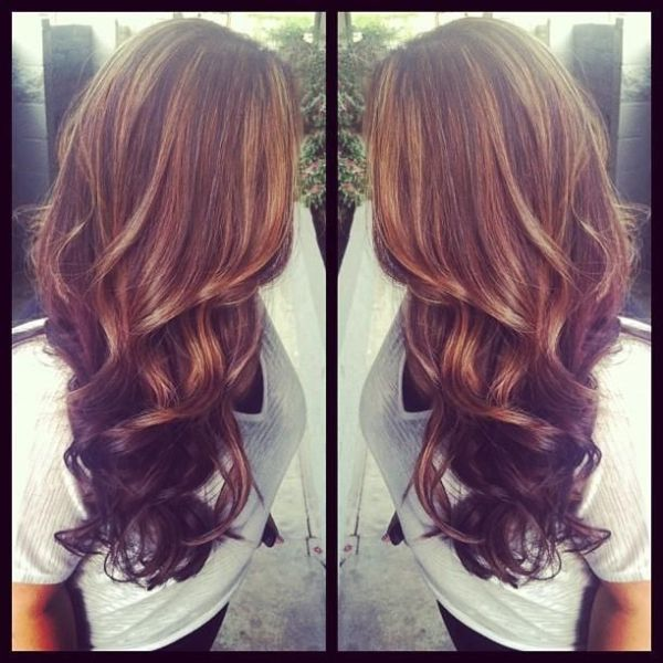 Trendy Hair Color Highlights Brown Hair With Thick Auburn