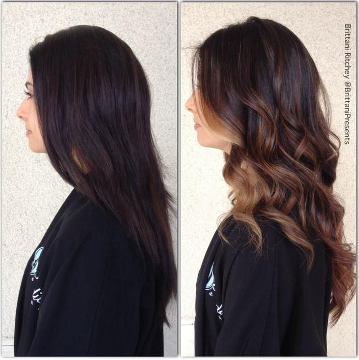 Trendy Hair Color Highlights Chocolate Brown With Caramel