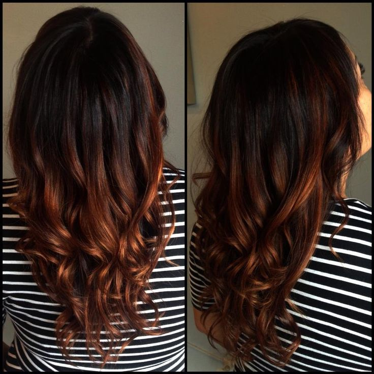 Trendy Hair Color Highlights Copper Ombre Beauty Haircut
