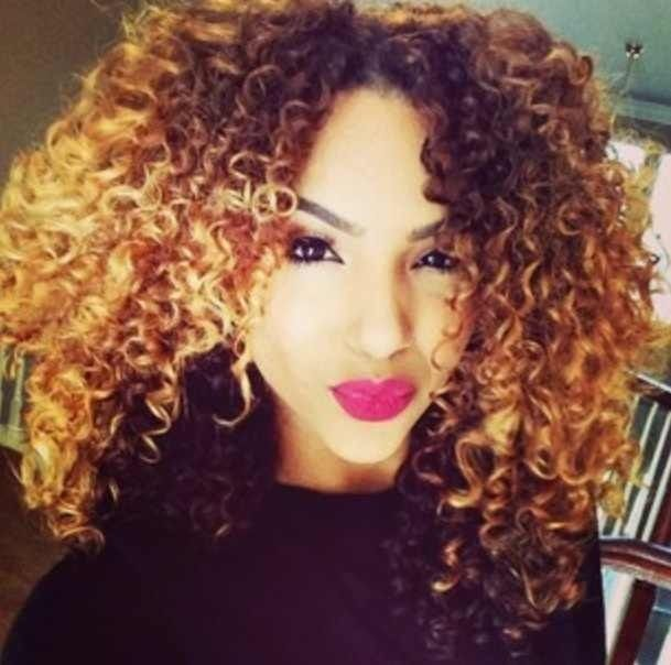 Trendy Hair Color Highlights Mixed Curly Hair Highlights