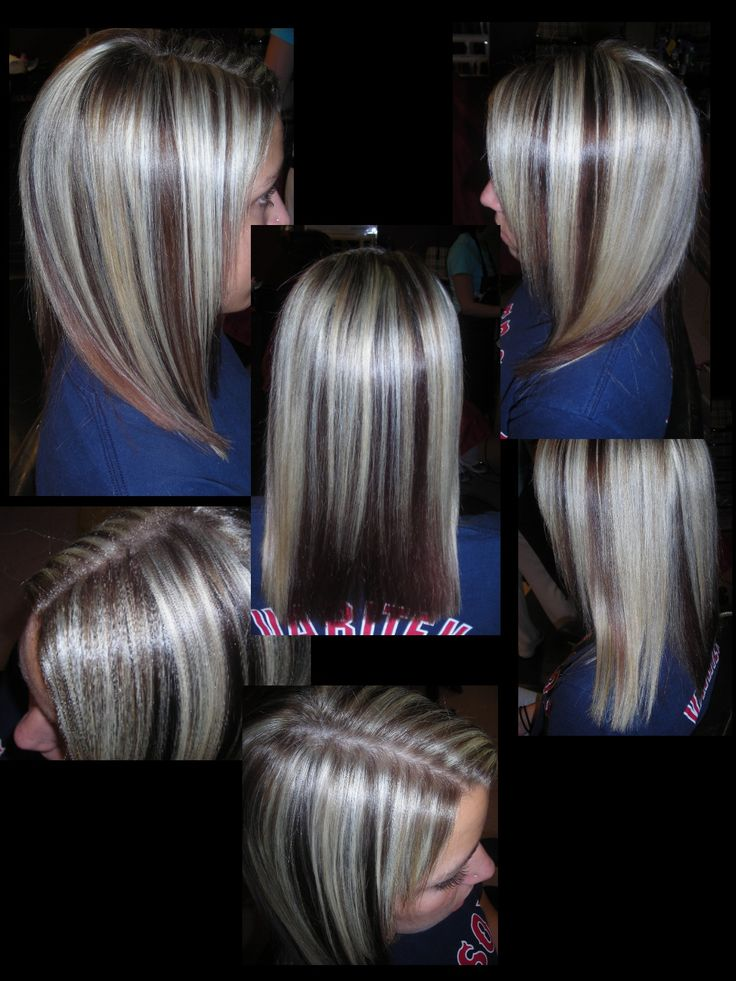 Trendy Hair Color Highlights Peek A Boo Highlights This Is