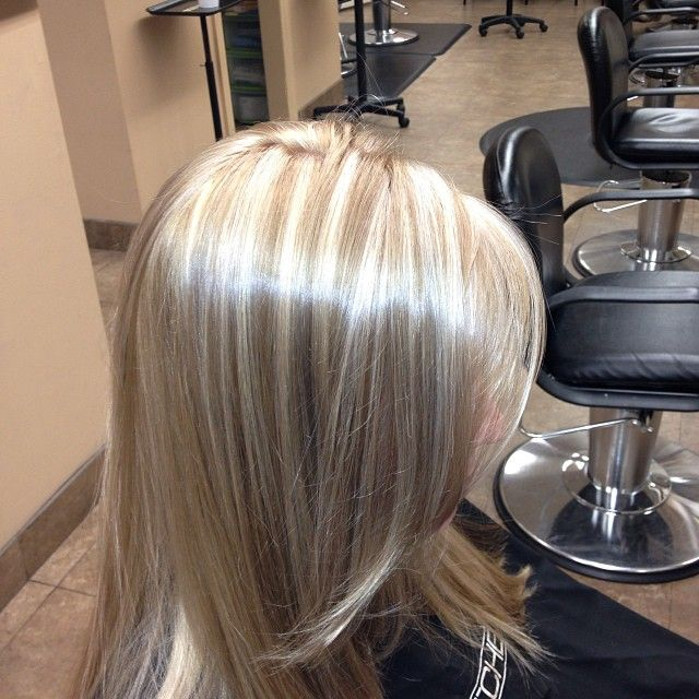 Trendy Hair Color Highlights Shiny Platinum Blonde Highlights