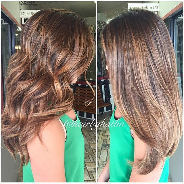 Trendy Hair Color Highlights Straight Brunette Hair With
