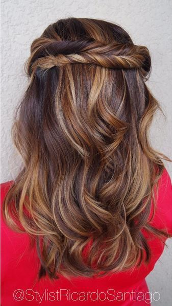 Trendy Hair Color Highlights Wood Grain Brunette Balayage And
