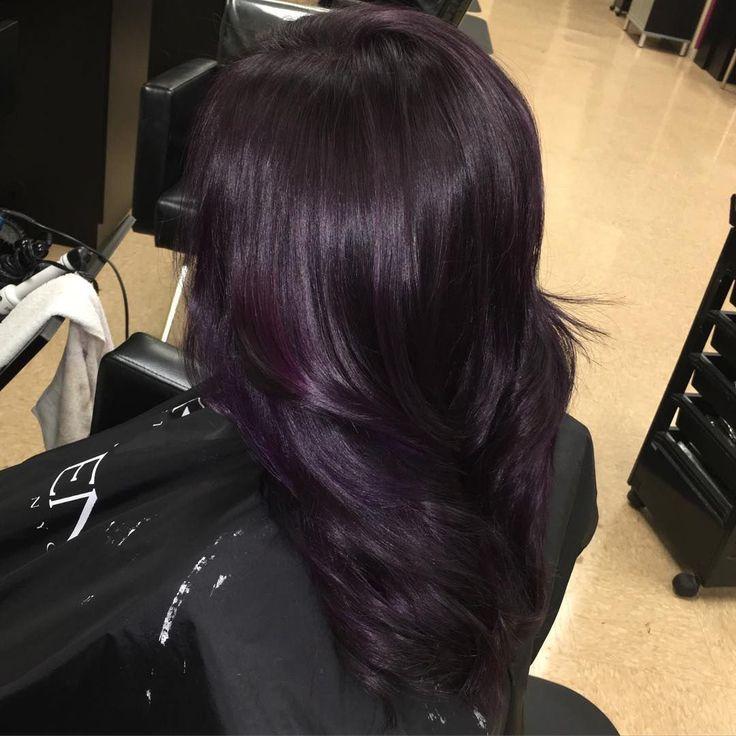 Trendy Ideas For Hair Color Highlights 50 Glamorous Dark Purple