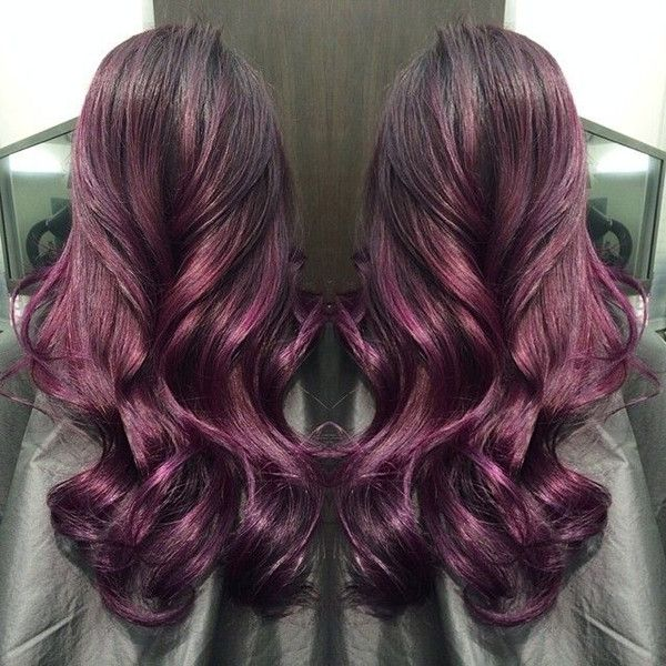 Trendy Ideas For Hair Color Highlights Amazing Red Purple Ombre