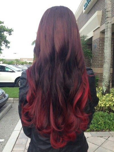 Trendy Ideas For Hair Color Highlights Burgundy Ombre