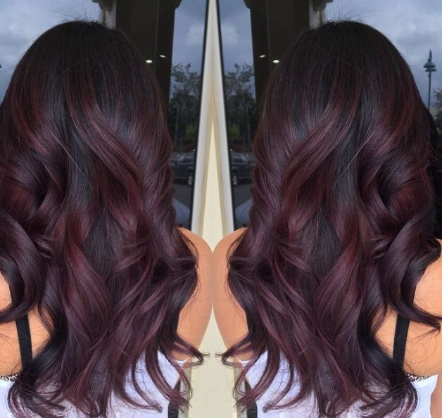 Trendy Ideas For Hair Color Highlights Burgundy Swirls Beauty