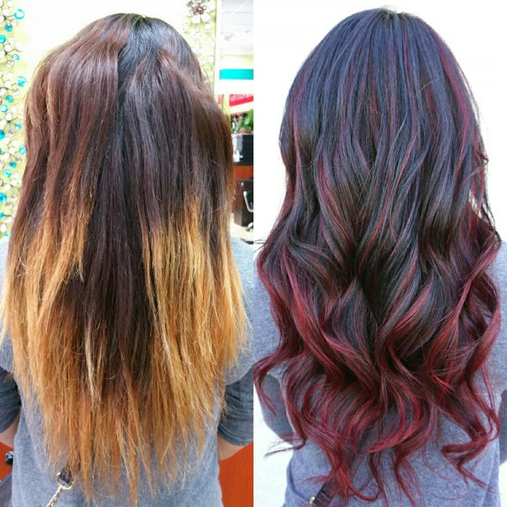 Dark Red Brown Hair Color With Highlights Best Hair Color 2018