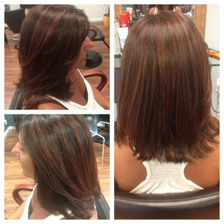 Trendy Ideas For Hair Color Highlights Chocolate Copper
