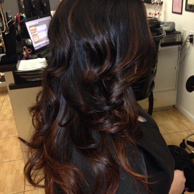 Trendy Ideas For Hair Color Highlights Cute Highlights On Black