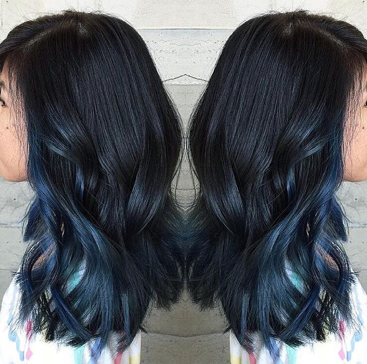 Trendy Ideas For Hair Color Highlights Dark Blue Peekaboo More