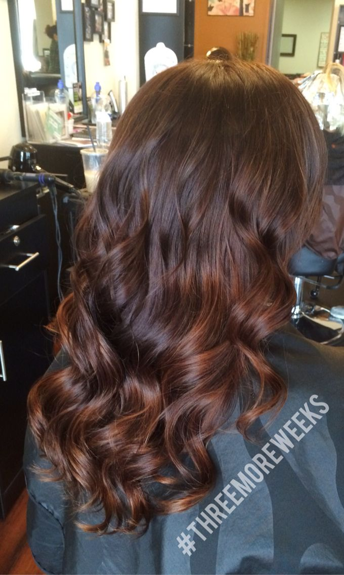 Gorgeous warm brown and copper balayage. Perfect hair color for fall! www.styles...