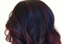 Trendy Ideas For Hair Color Highlights Lob Hairstyle Dark Red