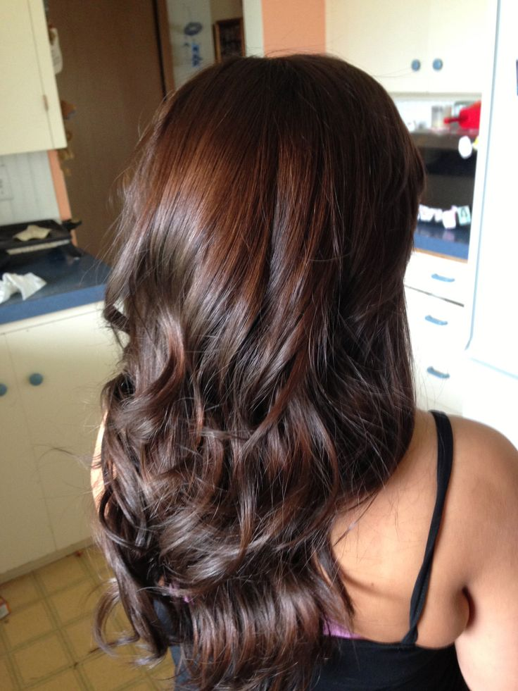 Trendy Ideas For Hair Color Highlights Long Layers Dark Brown