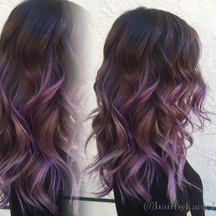 Trendy Ideas For Hair Color Highlights Purple Ombre Balayage