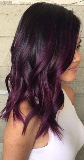 Purple highlighted hair.