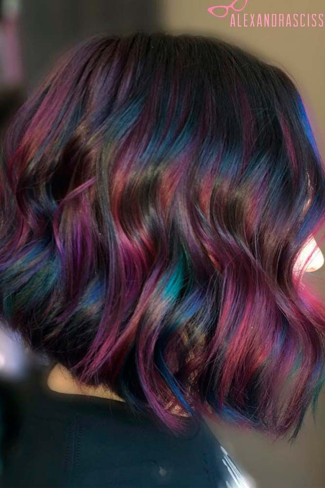 Trendy Ideas For Hair Color Highlights Rainbow Hair Ideas For