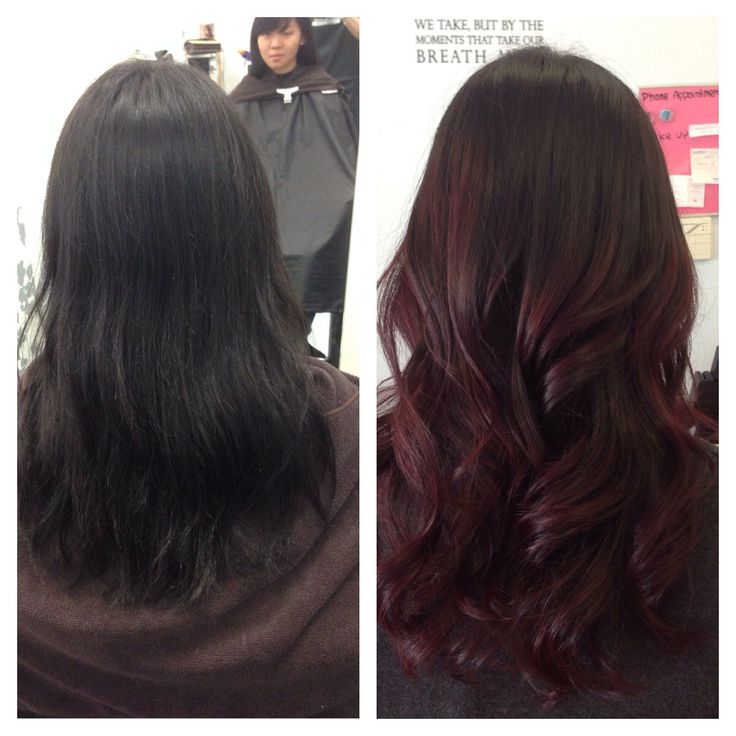 Trendy Ideas For Hair Color Highlights Red Mahogany Balayage