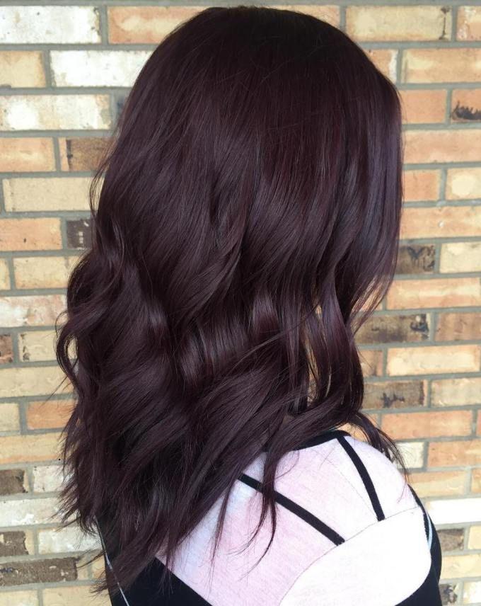 Trendy Ideas For Hair Color Highlights Very Dark Burgundy Brown