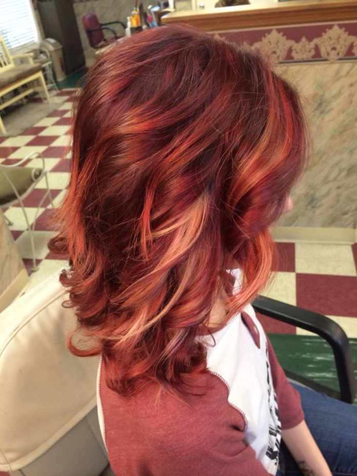 Trendy Ideas For Hair Color Highlights Violetbright Red Ombr