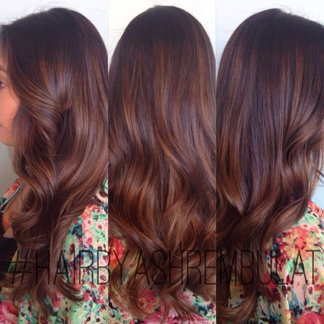 Trendy Ideas For Hair Color Highlights Warm Dark Brown Balayage