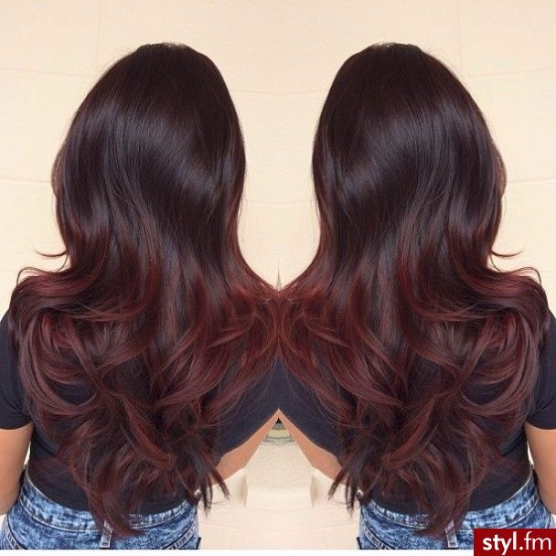 Trendy Ideas For Hair Color Highlights Black To Dark Red Ombre