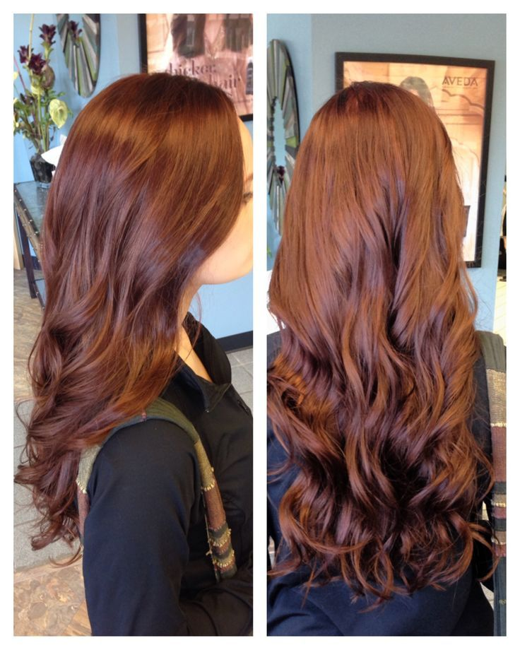 i dont color my hair but this is super pretty for fall!! brownish red hair color...