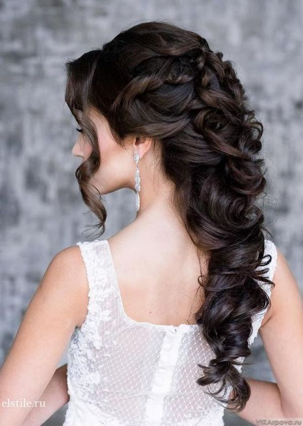 Elstile wedding hairstyle for long hair / www.himisspuff.co...