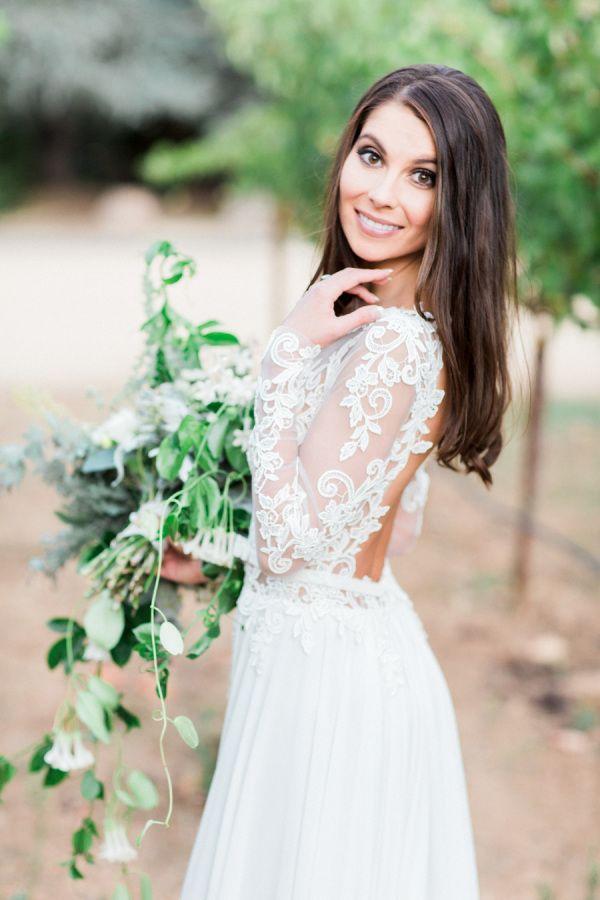 Wedding Hairstyles Gorgeous Lace Long Sleeve Wedding Dress Www