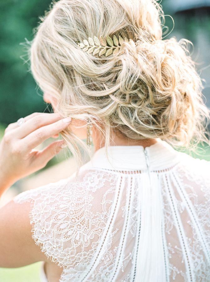 Gorgeous tousled bridal updo: www.stylemepretty... | Photography: Holeigh V - ho...