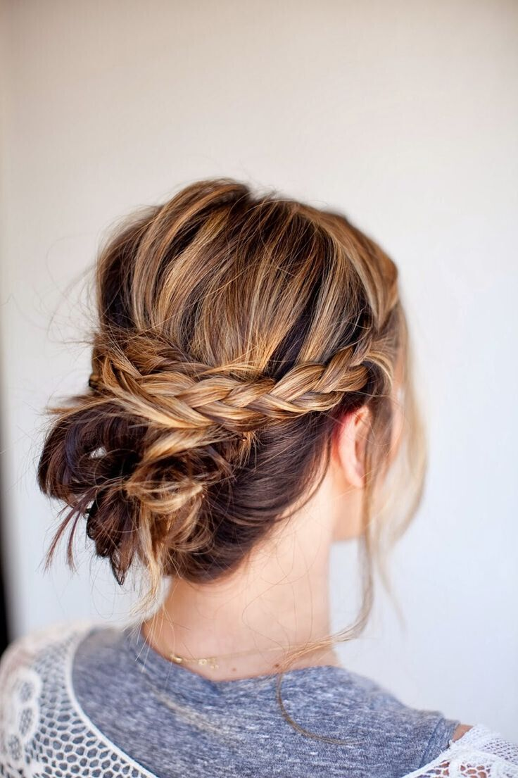Wedding Hairstyles : Messy Braided Bun - Beauty Haircut | Home of ...