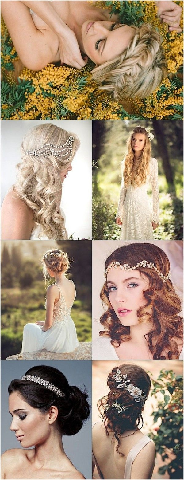 Wedding Hairstyles for a Romantic-Glam Look / www.himisspuff.co...