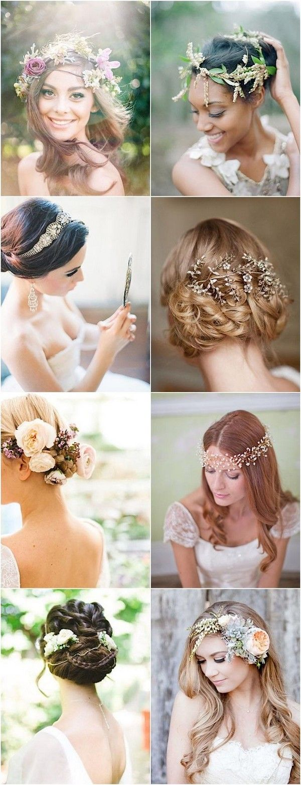 Wedding Hairstyles with Gorgeous Headpieces / www.himisspuff.co...