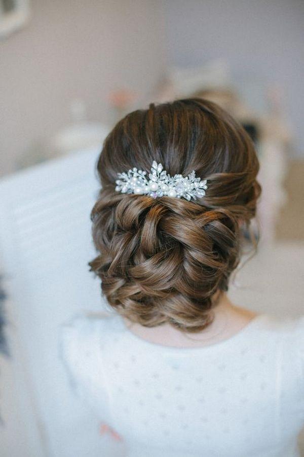 Wedding Hairstyles Elegant Wedding Updo Hairstyle From Enzebridal
