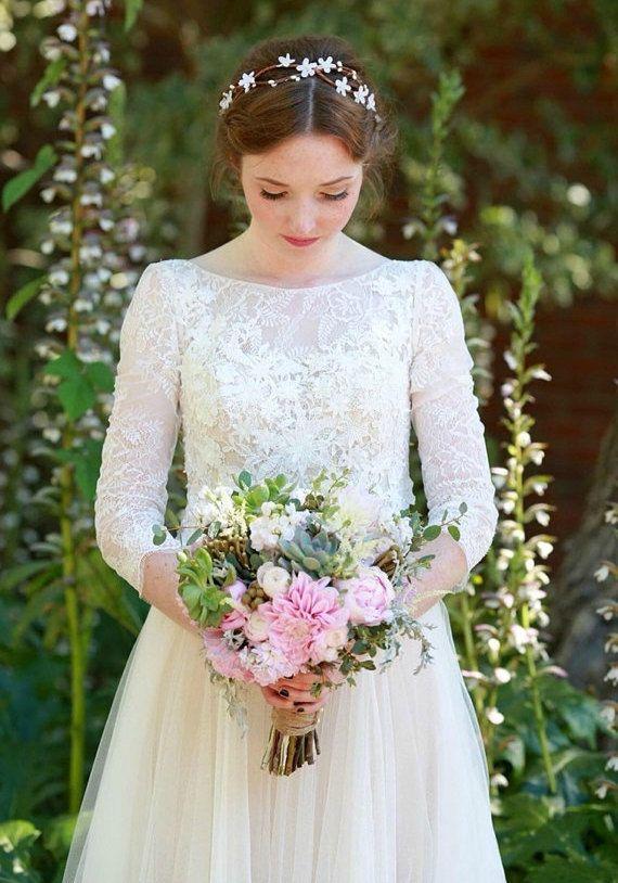 wedding accessories bridal headpiece wedding flower by deLoop