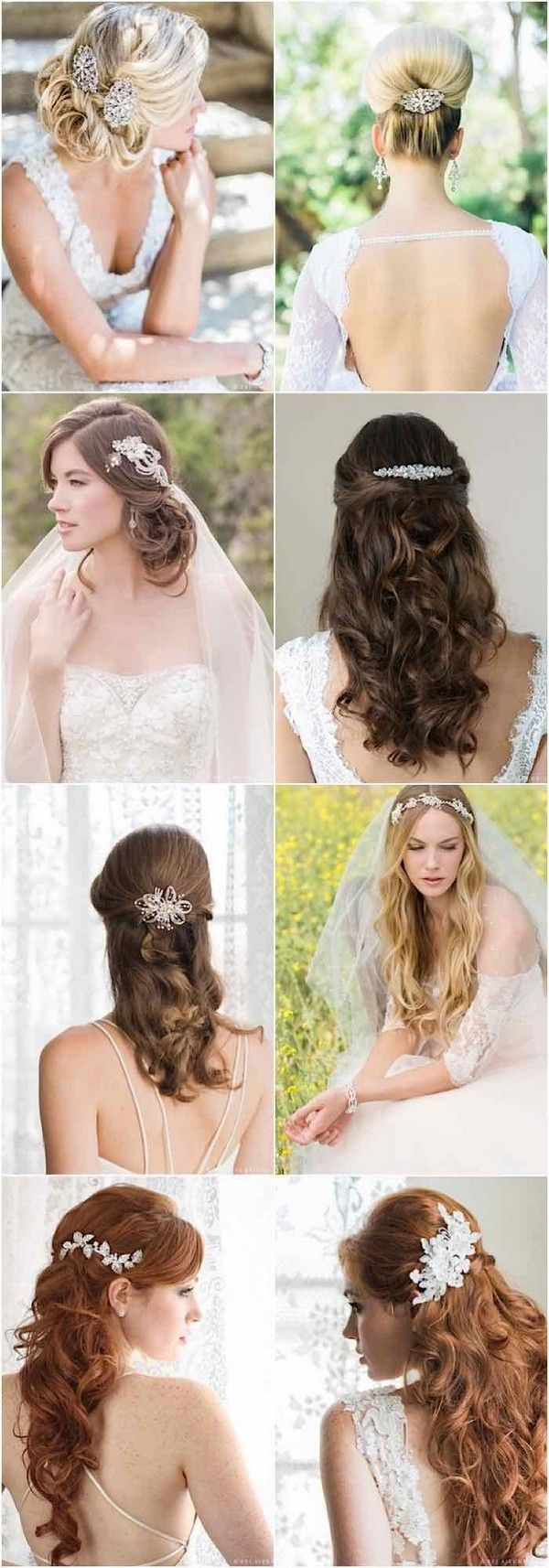 wedding hairstyles with gorgeous accessories from Bel Aire Bridal / www.himisspu...