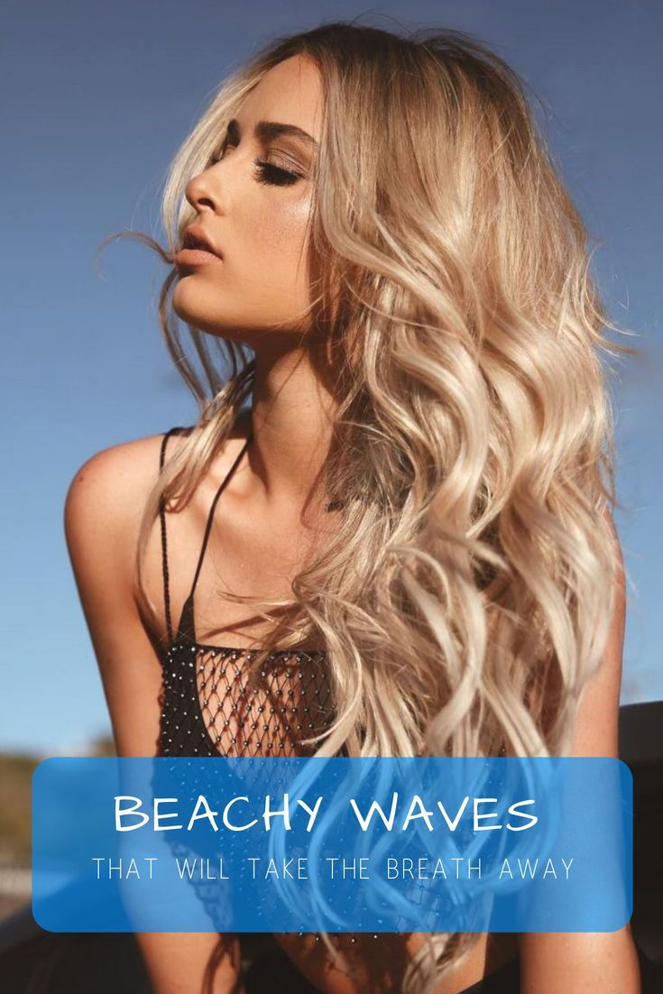 Low effort, air-dried hair with loose waves – that's all you need for the st...